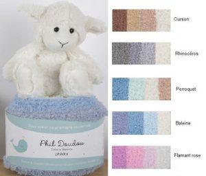 phildar-doudou in 5 kleuren