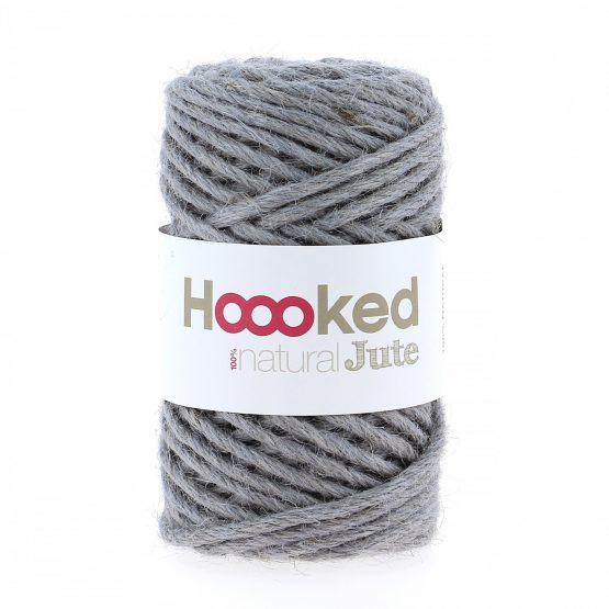 Natural Jute Grey Mist Hoooked Wolzolder