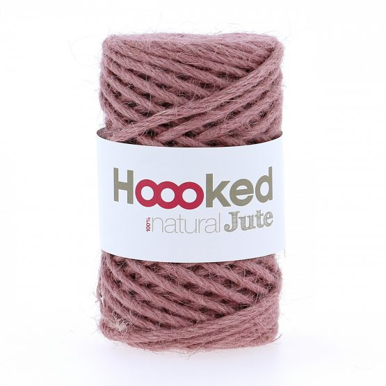 Natural Jute Tea Rose Hoooked wolzolder