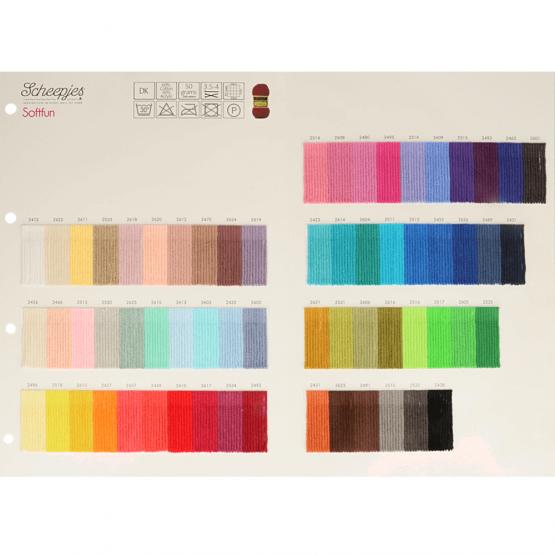 softfun kleurenkaart wolzolder