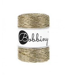 Wolzolder Bobbiny macrame 3mm Metallic Gold
