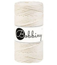 Wolzolder Bobbiny macrame 3mm Natural