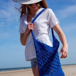 Biscaia Beach Bag strandtas Wolzolder Hoooked