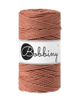 Bobbiny macrame triple twist 3 mm wolzolder Terracotta