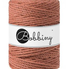 Bobbiny triple twist 5mm Wolzolder Terracotta