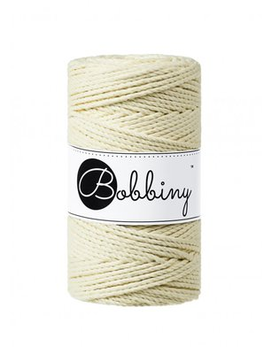 Bobbiny macrame triple twist 3 mm wolzolder Blonde