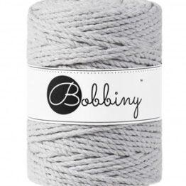 Bobbiny triple twist 5mm Wolzolder Light Grey