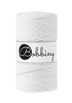 Bobbiny macrame triple twist 3 mm wolzolder White