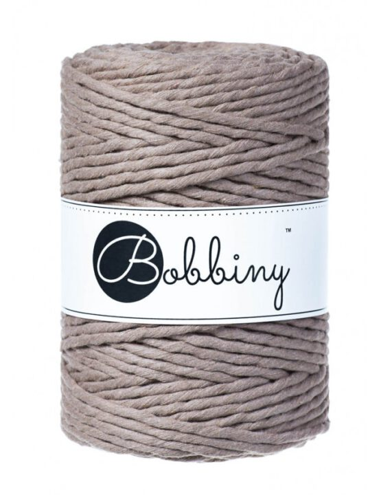 Bobbiny macrame 5mm Wolzolder Coffee