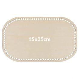 rechthoekige tassenbodem 15x25cm
