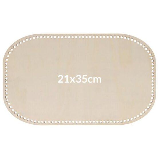 rechthoekige tassenbodem 21x35cm